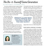 "An image of the text article with the headline ""The Do-it Yourself Game Generation."""